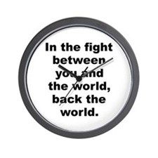 Cool Frank zappa quote Wall Clock