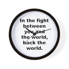 Zappa quotation Wall Clock