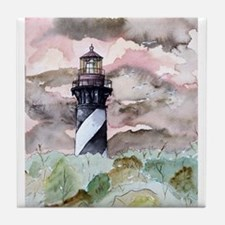 St Augustine Florida Lighthou Tile Coaster