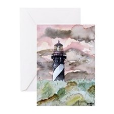 St Augustine Florida Lighthou Greeting Cards (Pk o
