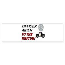 Aiden to the Rescue! Bumper Car Car Sticker