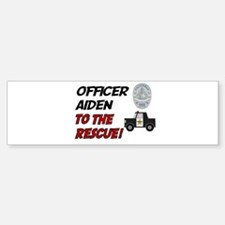 Aiden to the Rescue! Bumper Car Car Sticker