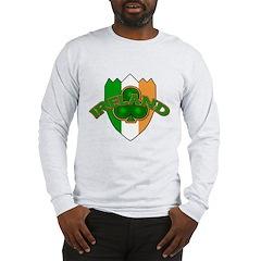 Ireland Badge with Shamrock Long Sleeve T-Shirt