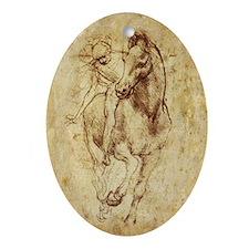 Leonardo da Vinci Horse Rider Oval Ornament