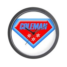 Super Coleman Wall Clock