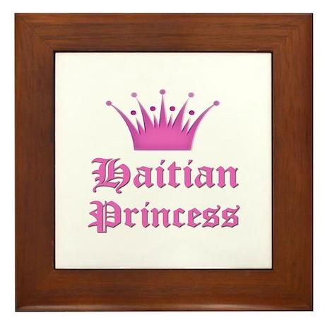 Haitian Princess Framed Tile