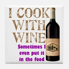 Wine Cook Tile Coaster