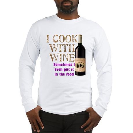 Wine Cook Long Sleeve T-Shirt