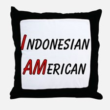 Indonesian American Throw Pillow