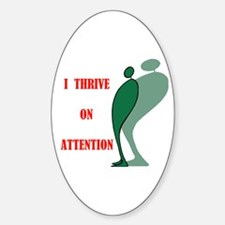 ATTENTION Oval Decal