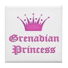 Grenadian Princess Tile Coaster