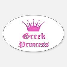 Greek Princess Oval Decal