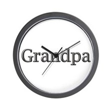 Grandpa steel CLICK TO VIEW Wall Clock
