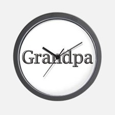Grandpa steel CLICK TO VIEW Wall Clock
