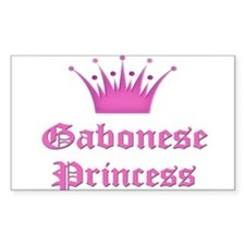 Gabonese Princess Rectangle Decal