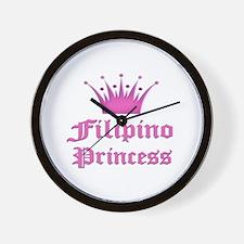 Fijian Princess Wall Clock