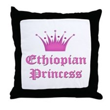 Ethiopian Princess Throw Pillow