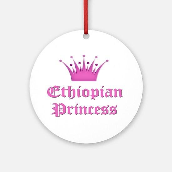 Ethiopian Princess Ornament (Round)