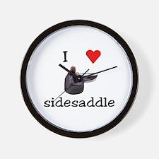 I Heart Sidesaddle Wall Clock
