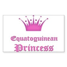 Equatoguinean Princess Rectangle Decal