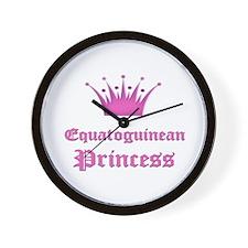 Equatoguinean Princess Wall Clock
