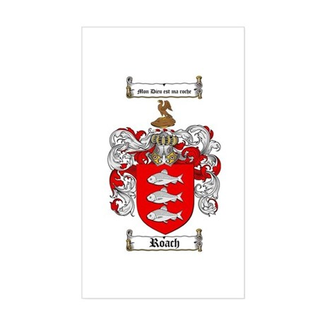 Roach Coat of Arms Rectangle Sticker