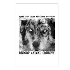 Report Animal Cruelty Dog Postcards (Package of 8)