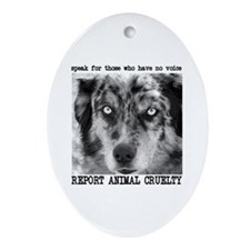 Report Animal Cruelty Dog Oval Ornament