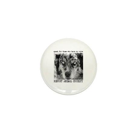 Report Animal Cruelty Dog Mini Button