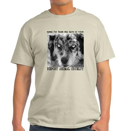 Report Animal Cruelty Dog Light T-Shirt