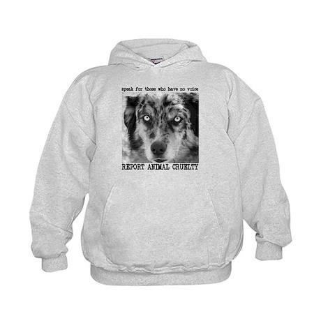 Report Animal Cruelty Dog Kids Hoodie
