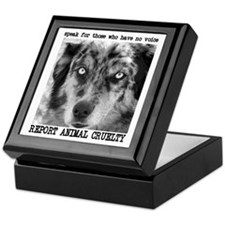 Report Animal Cruelty Dog Keepsake Box