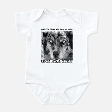 Report Animal Cruelty Dog Infant Bodysuit
