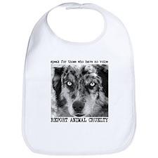 Report Animal Cruelty Dog Bib