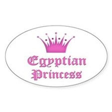 Egyptian Princess Oval Decal
