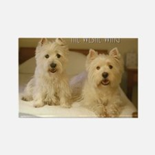 The Westie Wing 2 Rectangle Magnet