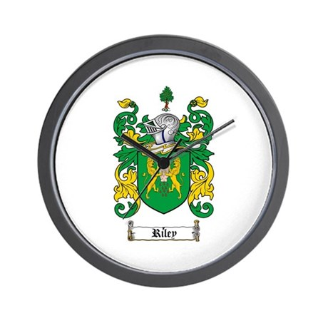 Riley Coat of Arms Wall Clock