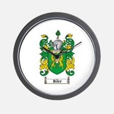 Riley Coat of Arms Wall Clock
