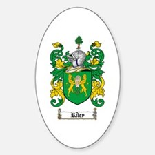 Riley Coat of Arms Oval Bumper Stickers