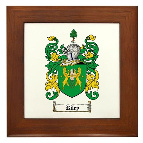 Riley Coat of Arms Framed Tile