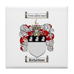 Richardson Coat of Arms Tile Coaster
