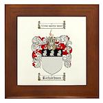 Richardson Coat of Arms Framed Tile