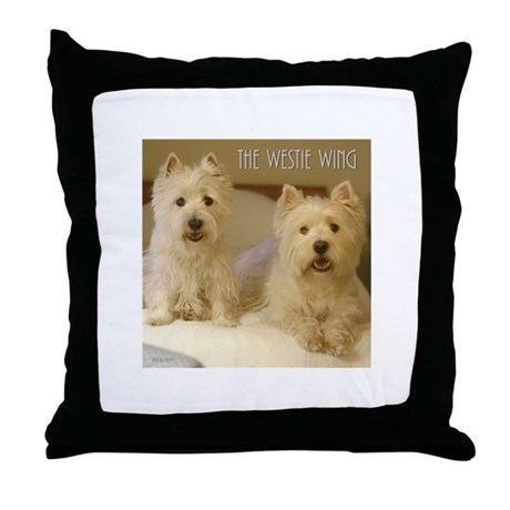 The Westie Wing 2 Throw Pillow
