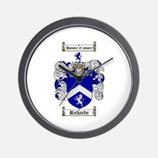 Richards Coat of Arms Wall Clock
