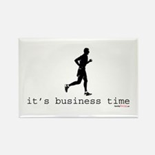 It's Business Time Running Rectangle Magnet