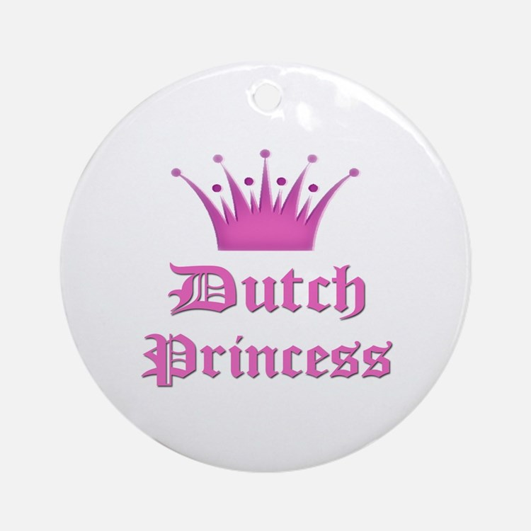Dutch Princess Ornament (Round)