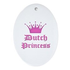 Dutch Princess Oval Ornament