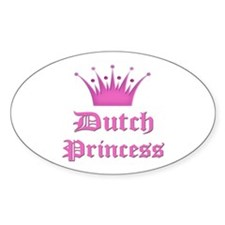 Dutch Princess Oval Decal