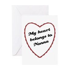 My Heart Belongs to Nonna Greeting Card