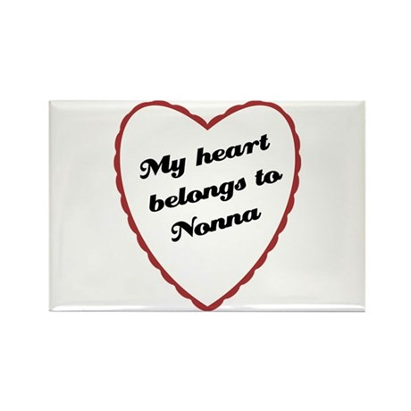 My Heart Belongs to Nonna Rectangle Magnet (100 pa
